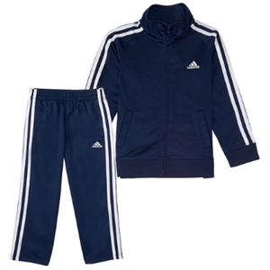 ADIDAS Blue & White Track Suit Size 4T NWT